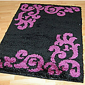 Origin Red Lotus Black Rug - 220cm x 160cm