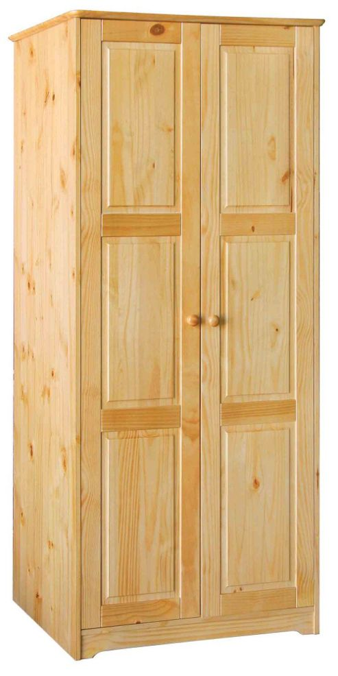 Home Essence Berwick 2 Door Wardrobe in Solid Pine
