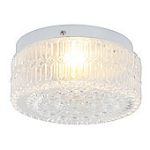 Home Essence Husky 1 Light Flush Ceiling Light