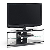 "Techlink Air Acrylic and Glass 46"" Corner TV Stand - Black"