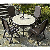 Nardi Colosseo 120cm Ravenna Table with Beta Chairs in Coffee