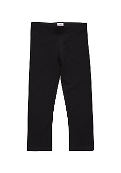 F&F Cropped Leggings with As New Technology - Black