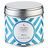 Shearer Mint Filled Tin Candle