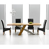 Mark Harris Furniture Montana Solid Oak Dining Table with Roma Dining Chairs