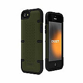 Cygnett Workmate Case for iPhone 5 and Screen Protector - Dark Olive Green/Black
