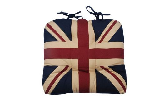 Woven Magic Union Jack Patriotic Duck Chair Pad