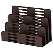 Metal letter holder-brown