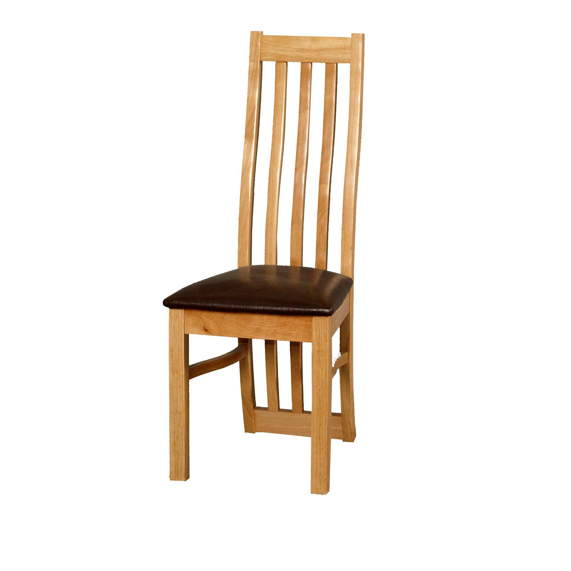 Furniture Link Eve Dining Chair in Natural Oak (Set of 2)