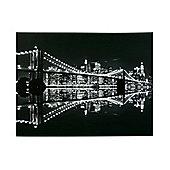 Premier Housewares Brooklyn Bridge at Night Printed Canvas Art