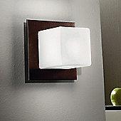 Linea Light Cubic One Light Flush Ceiling/Wall Light - Wenge