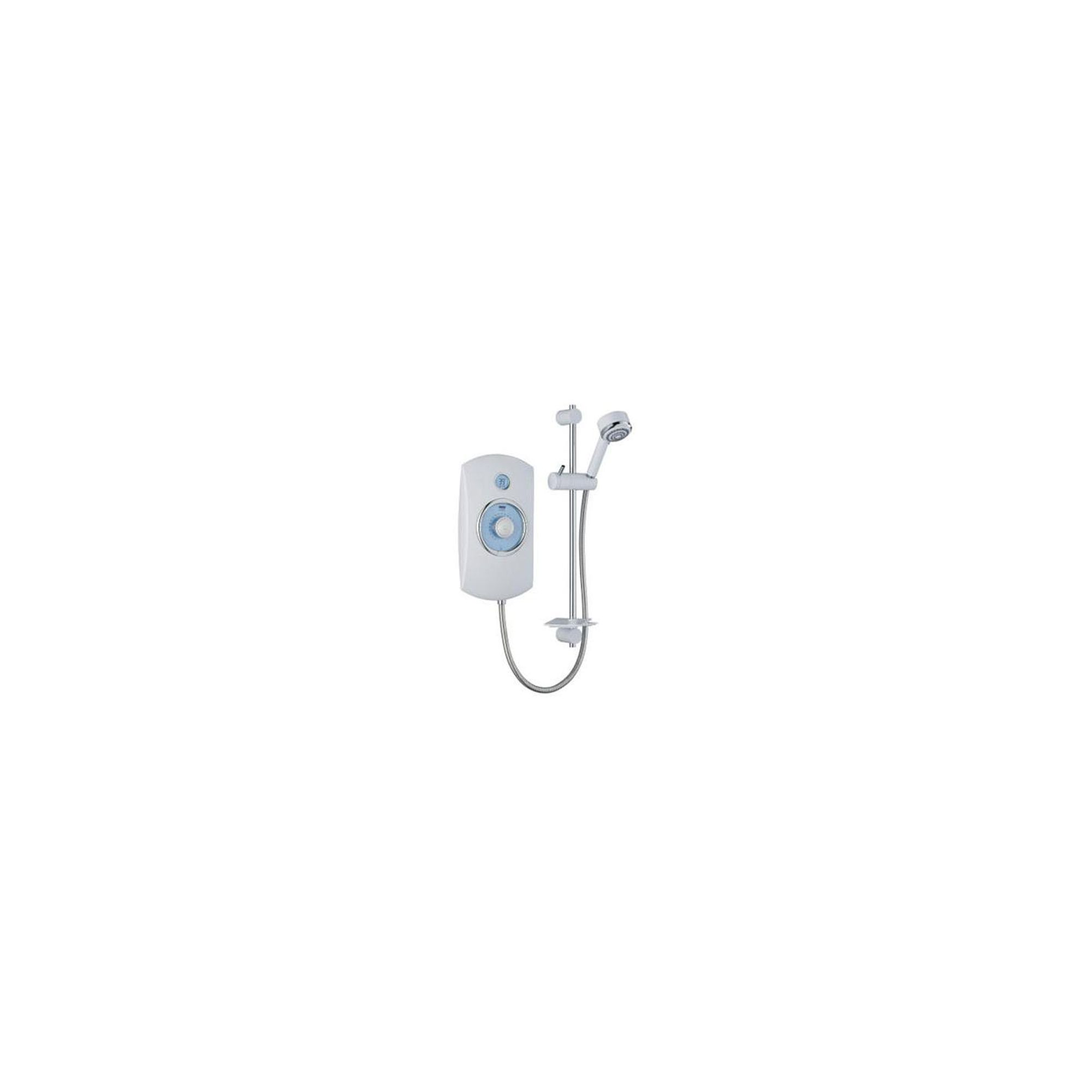 Mira Orbis 10.8 kW Electric Shower, Time and Temperature Display, White at Tesco Direct
