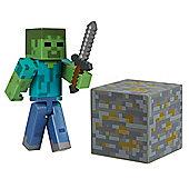 "Minecraft 3"" Figure Series 1 Overworld Zombie"