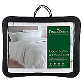 Kings & Queens Goose Feather & Down 10.5 Tog Duvet Single
