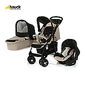 Hauck Shopper Trio Travel System, Almond/caviar