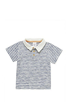 Charlie & Me Striped Polo Shirt - Blue
