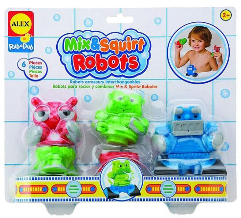 Alex Toys Mix and Squirt Robots Bath Toys