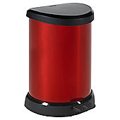 Curver 20L Deco One Touch Pedal Bin Red