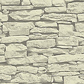 Moroccan Wall Sand Slate Stone Wallpaper - Arthouse 623008