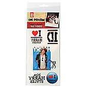 One Direction Harry Styles Temporary Tattoo's Single Sheet 2081