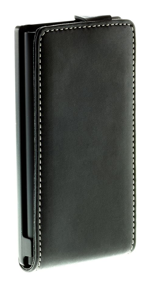 Works with Nokia Alpha Leather Flip Case for Nokia Lumia 800 - Black