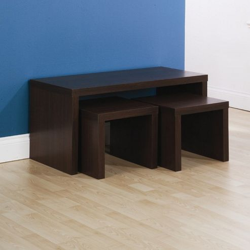 Elements Utah Long John Coffee Nest of Table - Walnut