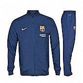 2013-14 Barcelona Nike Woven Tracksuit (Navy) - Kids - Navy