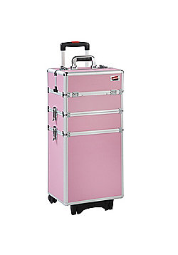 Beautify 4-in-1 Pink Make Up Cosmetics Beauty Trolley