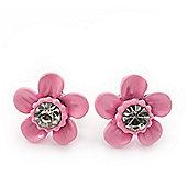 Children's Pretty Light Pink Enamel 'Daisy' Stud Earrings - 12mm Diameter