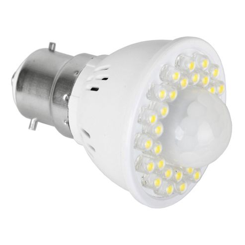 BC B22 LED PIR Sensor Lamp Warm White