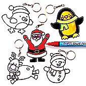 Christmas Suncatcher Keyrings&Bag Danglers (5 Pcs)