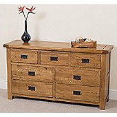 Cotswold Rustic Solid Oak 3 + 4 Chest Of Drawers
