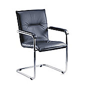Teknik Office Envoy Leather Cantilever Reception Arm Chair