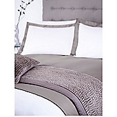 Casa Couture Grey Double Oxford Pillowcase Pair In Grey