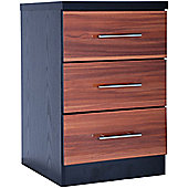 GFW Wyoming 3 Drawer Bedside Table