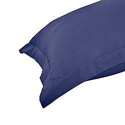 Homescapes Navy Blue Egyptian Cotton Oxford Pillowcase 200 TC, Standard Size