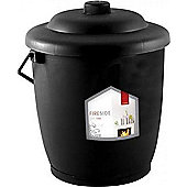 De Vielle Plastic Coal Tub Black