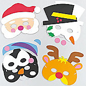 Christmas Foam Mask Kits for Children (4 Pcs)