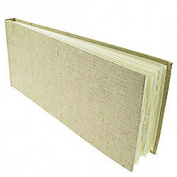Handmade Paper Hardback Sketchbook Slim, white smooth, 13cm x 32cm. 210gsm