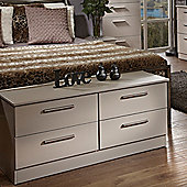 Welcome Furniture Contrast 4 Drawer Chest - Mushroom