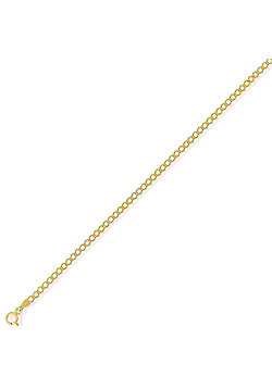 9ct Yellow Gold - High Performance Curb Chain - 2.5mm gauge