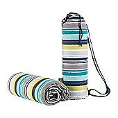 Navigate Atlantic Blue Stripe Picnic Blanket in Duffle Bag