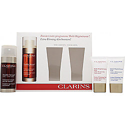 Clarins Gift Set 30ml Double Serum Age Control + 15ml Extra-Firming Day Wrinkle Cream + 15ml Extra-Firming Night Rejuvenating Cream