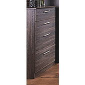 Welcome Furniture Contrast Deep Chest of 4 Drawers