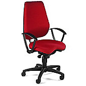Topstar Alustar Basic Swivel Chair - With Arms - Red