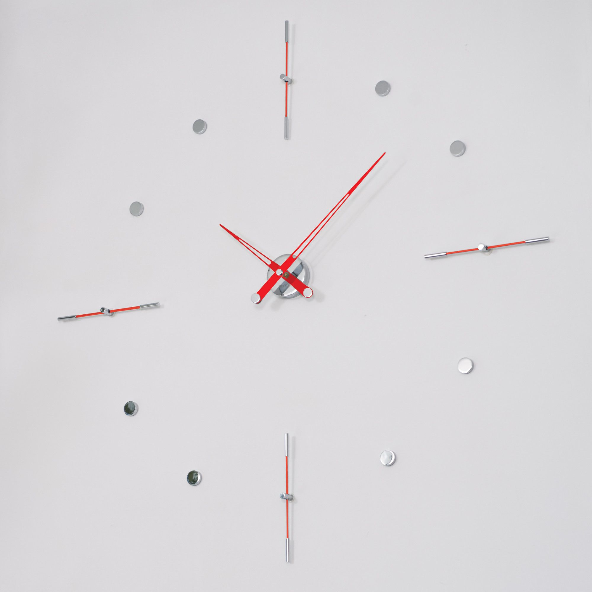 NOMON Mixto I Clock - Red Lacquered at Tesco Direct
