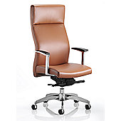 Maestro Solium High-Back Leather Executive Chair - Tan