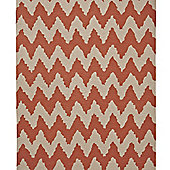 Think Rugs Hong Kong Orange/Beige Tufted Rug - 120 cm x 170 cm (3 ft 9 in x 5 ft 7 in)