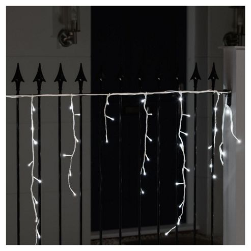 Festive 240 LED Snowing Icicle Lights, White