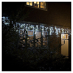 240 Multifunction Icicle LED Christmas Lights, White