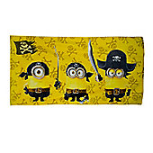 Character Minions Pirates Cotton Beach Towel